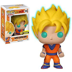 Pop! Animation Vinyl Figure Super Saiyan Goku (Glows in the Dark) #14 Entertainment Earth Exclusive