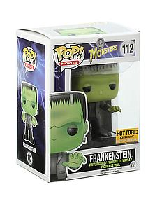 Pop! Movies Universal Monsters Vinyl Figure Frankenstein (Glows in the Dark) #112 Hot Topic Exclusive