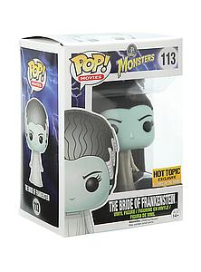 Pop! Movie Universal Monsters Vinyl Figure The Bride of Frankenstein (Glows in the Dark) #113 Hot Topic Exclusive