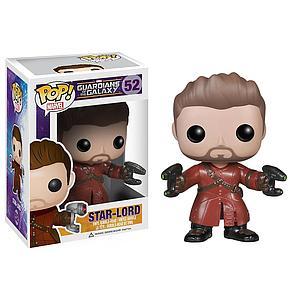 Pop! Marvel Guardians of the Galaxy Vinyl Bobble-Head Star-Lord (Unmasked) #52 Amazon Exclusive