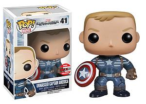 Pop! Marvel Captain America The Winter Soldier Vinyl Bobble-Head Unmasked Captain America #41 Fan Expo Exclusive