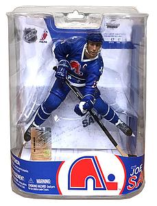 NHL Sportspicks Series 17 Joe Sakic (Quebec Nordiques) Blue Jersey