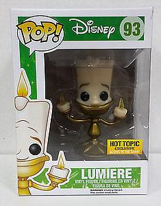 Pop! Disney The Beauty & the Beast Vinyl Figure Lumiere (Glows in the Dark) #93 Hot Topic Exclusive