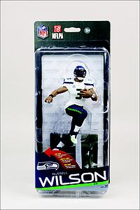 NFL Sportspicks Series 35 Russell Wilson White Jersey (Seattle Seahawks) Collector Level