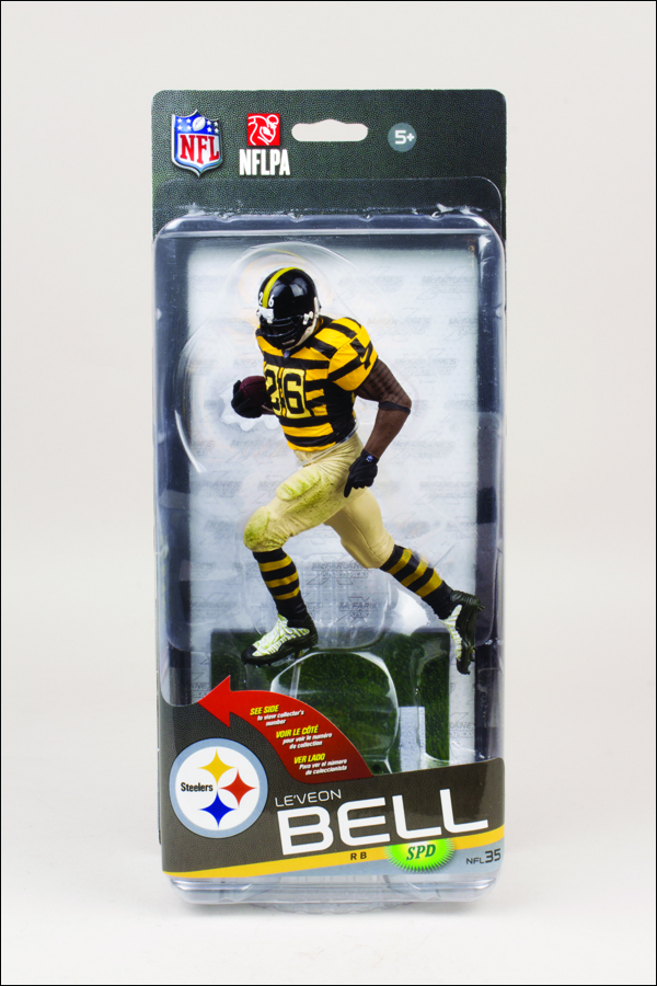 b43f98544 NFL Sportspicks Series 35 Le Veon Bell Yellow   Black Stripe Jersey (Pittsburgh  Steelers) Collector Level