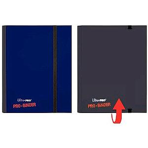 4-Pocket Side Loading Pro-Binder: Blue & Black