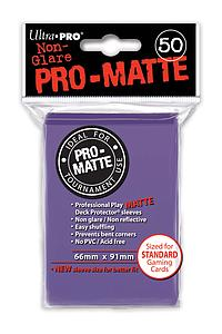 Card Sleeves 50-pack Non-Glare Pro-Matte Standard Size: Purple