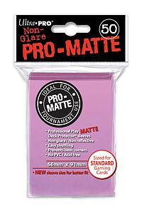 Card Sleeves 50-pack Non-Glare Pro-Matte Standard Size: Pink