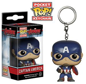 Pop! Pocket Keychain Avengers Age of Ultron Vinyl Figure Captain America