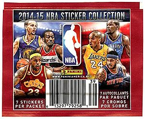 2014-15 Panini NBA Sticker Booster Pack