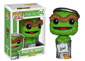 Pop! Television Sesame Street Vinyl Figure Oscar the Grouch #03 (Retired)