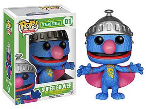 Pop! Television Sesame Street Vinyl Figure Super Grover #01 (Retired)