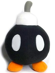 "Super Mario Bros Plush Bob-omb Black (12"")"