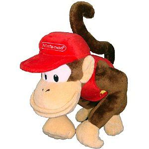 "Plush Toy Super Mario Bros 12"" Diddy Kong"