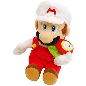 "Plush Toy Super Mario Bros 12"" Fire Mario Flower"