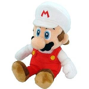 "Plush Toy Super Mario Bros 12"" Fire Mario Sit"