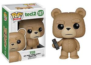 Pop! Movies Ted 2 Vinyl Figure Ted with Remote #187 (Retired)