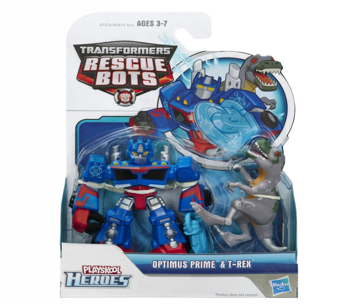 Transformers Rescue Bots Playskool Heroes: Optimus Prime & T-Rex