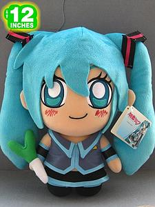 "Plush Toy Vocaloid 12"" Miku Chibi"