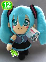 "Plush Toy Vocaloid 12"" Miku with Leek"