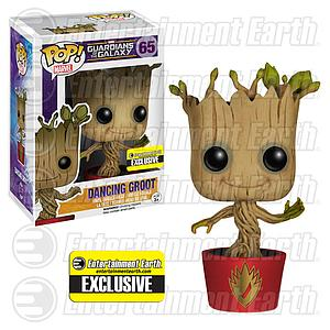 Pop! Marvel Guardians of the Galaxy Vinyl Figure Dancing Groot #65 Entertainment Earth Exclusive