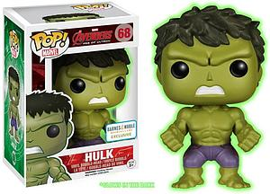 Pop! Marvel Avengers Age of Ultron Vinyl Bobble-Head Hulk (Glows In The Dark) #68 Barnes & Noble Exclusive