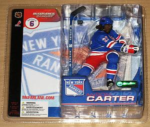 NHL Sportspicks Series 6 Anson Carter (New York Rangers) Blue Jersey Variant