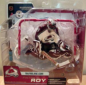 NHL Sportspicks Series 6 Patrick Roy (Colorado Avalanche) White (Black Undershirt)