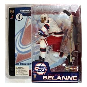 NHL Sportspicks Series 6 Teemu Selanne (Winnipeg Jets) White Jersey Variant (Retro Jets)