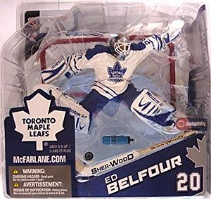 NHL Sportspicks Series 8 Ed Belfour (Toronto Maple Leafs) White Jersey