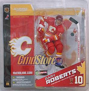 NHL Sportspicks Series 8 Gary Roberts (Calgary Flames) Red Jersey Variant