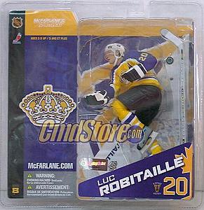 NHL Sportspicks Series 8 Luc Robitaille (Los Angeles Kings) Yellow Retro Jersey Variant