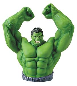 Marvel Green Hulk Arms Raised Bust Bank PX Exclusive