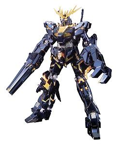 Gundam Master Grade 1/100 Scale Model Kit: RX-0 Unicorn Gundam 02 Banshee Titanium Finish Ver.
