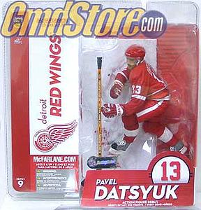NHL Sportspicks Series 9 Pavel Datsyuk (Detroit Red Wings) Red Jersey Variant