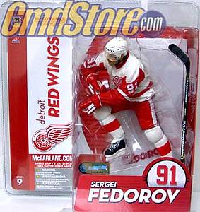 NHL Sportspicks Series 9 Sergei Federov (Detroit Red Wings) White (Retro) Jersey Variant