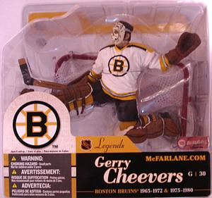 NHL Sportspicks Legends Series 1 Gerry Cheevers (Boston Bruins) White Jersey Variant