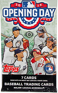 2015 MLB Opening Day Baseball Hobby Pack