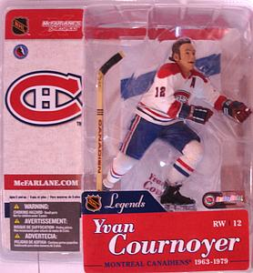 McFarlane NHL Sportspicks Legends Series 1 Yvan Cournoyer (Montreal Canadiens) White Jersey Variant
