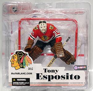 NHL Sportspicks Legends Series 3 Tony Esposito (Chicago Blackhawks) Red