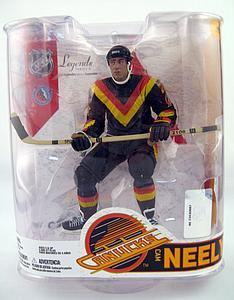 NHL Sportspicks Legends Series 6 Cam Neely (Vancouver Canucks) Black (Retro V Jersey) Jersey Variant