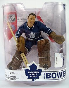 NHL Sportspicks Legends Series 6 Johnny Bower (Toronto Maple Leafs) Blue