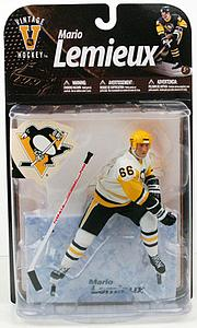 McFARLANE NHL Legends Series 8 Mario Lemieux (Pittsburgh Penguins) White Jersey (Variant)