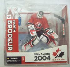 NHL Sportspicks TC World Cup of Hockey 2004 Series Martin Brodeur (Team Canada) Red Jersey Variant (Sub-Standard Packaging)