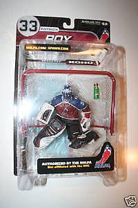 NHL Sportspicks NHLPA Series 1 Patrick Roy (Colorado Avalanche) Maroon (Gatorade Logo on Bottle) Jersey Variant