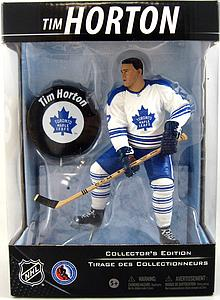 NHL Sportspicks Canadian Tire Series Tim Horton with Puck (Toronto Maple Leafs) White Jersey Exclusive