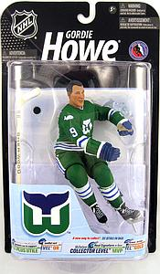 NHL Sportspicks Series 23 Gordie Howe (Hartford Whalers) Green Jersey Collector Level Gold