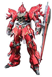 Gundam Master Grade 1/100 Scale Model Kit: MSN-06S Sinanju Ver.Ka Titanium Finish