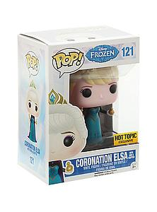Pop! Disney Frozen Vinyl Figure Coronation Elsa #121 Hot Topic Exclusive