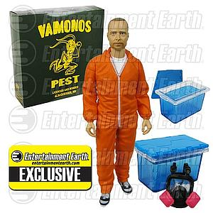 Toys Breaking Bad: Jesse Pinkman (Vamonos Pest Orange Hazmat Suit) Entertainment Earth Exclusive